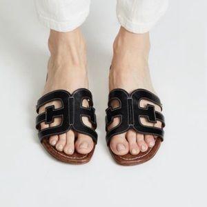 Sam Edelman Bay Black Cutout Slide Sandal 8.5 NWT